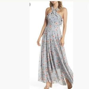 New Gal Meets Glam Ella Blue Pink Floral  Dress